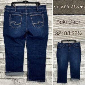 Silver Jeans Suki Mid Capri Sz 18  L22.5 Cropped
